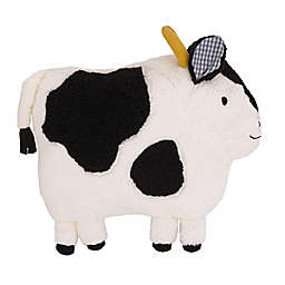 Little Love by NoJo® Plush Cow Throw Pillow in Ivory