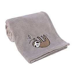 Little Love by NoJo® Sloth Let's Hang Out Baby Blanket in Grey