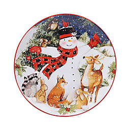 Certified International Magic of Christmas Snowman Dinner Plates (Set of 4)