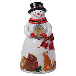 Certified International Magic of Christmas 3D Snowman 72 oz. Cookie Jar in White