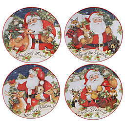 Certified International Magic of Christmas Santa Claus Dessert Plates (Set of 4)