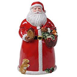 Certified International Magic of Christmas 3D Santa 72 oz. Cookie Jar in Red
