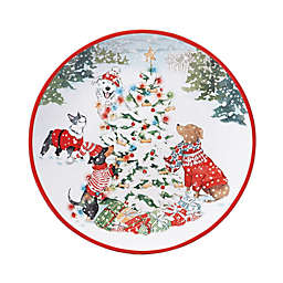 Certified International Special Delivery 11-Inch Assorted Dinner Plates (Set of 4)