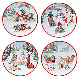 Certified International Special Delivery 9-Inch Assorted Dinner Plates (Set of 4)