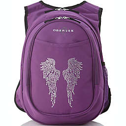 Obersee Preschool All-in-One Backpack for Kids with Insulated Cooler in Rhinestone Angel Wings