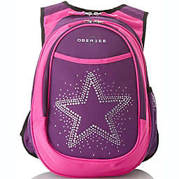 Obersee Preschool All-in-One Backpack for Kids with Insulated Cooler in Bling Rhinestone Star