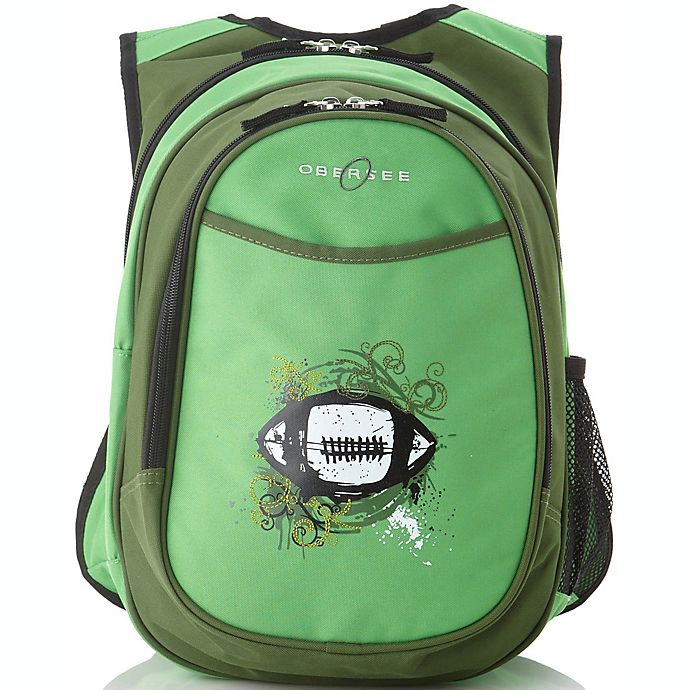 Alternate image 1 for O3 Kids All-In-One Backpack with Cooler in Green Football