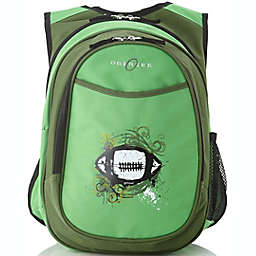 Obersee Preschool All-in-One Backpack for Kids with Insulated Cooler in Green Football