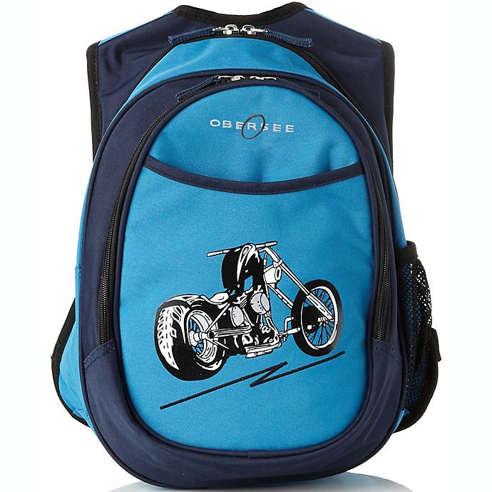 Alternate image 1 for O3 Kids All-in-One Backpack with Cooler in Blue Motorcycle
