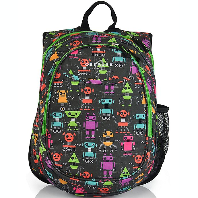 Alternate image 1 for Obersee Pre-School All-In-One Robots Backpack with Cooler in Black