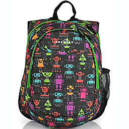 Obersee Preschool All-in-One Backpack for Kids with Insulated Cooler in Robots