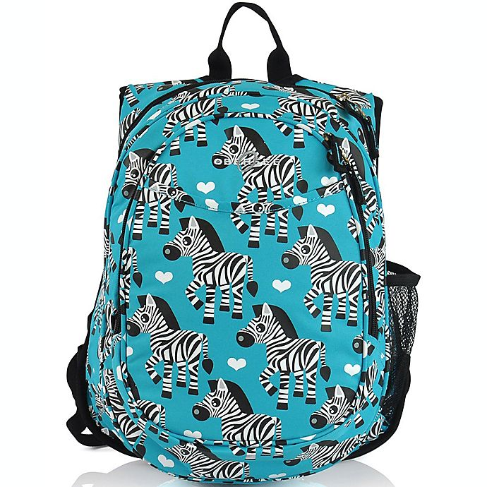 Alternate image 1 for Obersee Pre-School All-In-One Zebra Backpack with Cooler in Blue