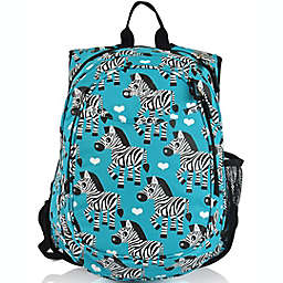 Obersee Pre-School All-In-One Zebra Backpack with Cooler in Blue