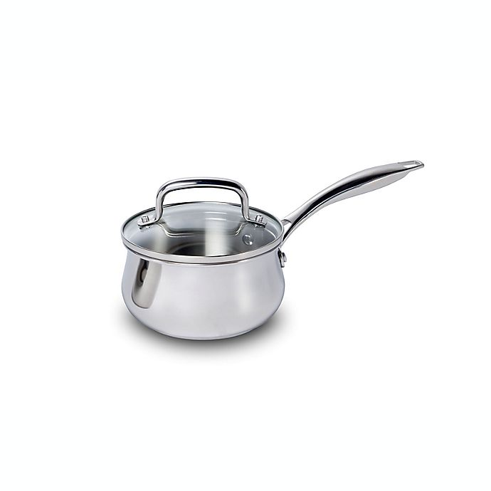 Alternate image 1 for Lagostina 1.27 qt. Stainless Steel Covered Saucepan