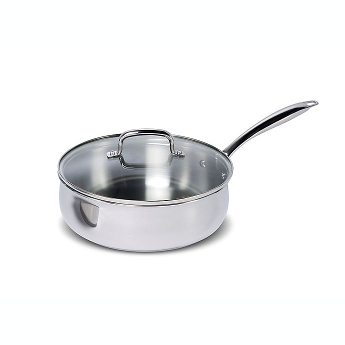 Alternate image 1 for Lagostina 4.2 qt. Stainless Steel Covered Saute Pan