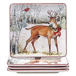 Certified International™ Winter Forest Assorted Dinner Plates (Set of 4)