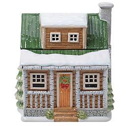 Certified International Winter Forest 3D Lodge Cookie Jar