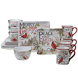 Certified International Evergreen Christmas 16-Piece Dinnerware Set