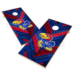 University of Kansas Jayhawks Herringbone Cornhole Set