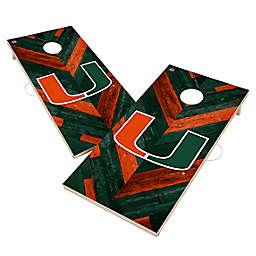 University of Miami Hurricanes Herringbone Cornhole Set