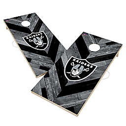 NFL Las Vegas Raiders Herringbone Cornhole Set