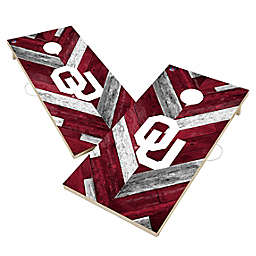 University of Oklahoma Sooners Herringbone Cornhole Set