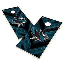 NHL San Jose Sharks Herringbone Cornhole Set