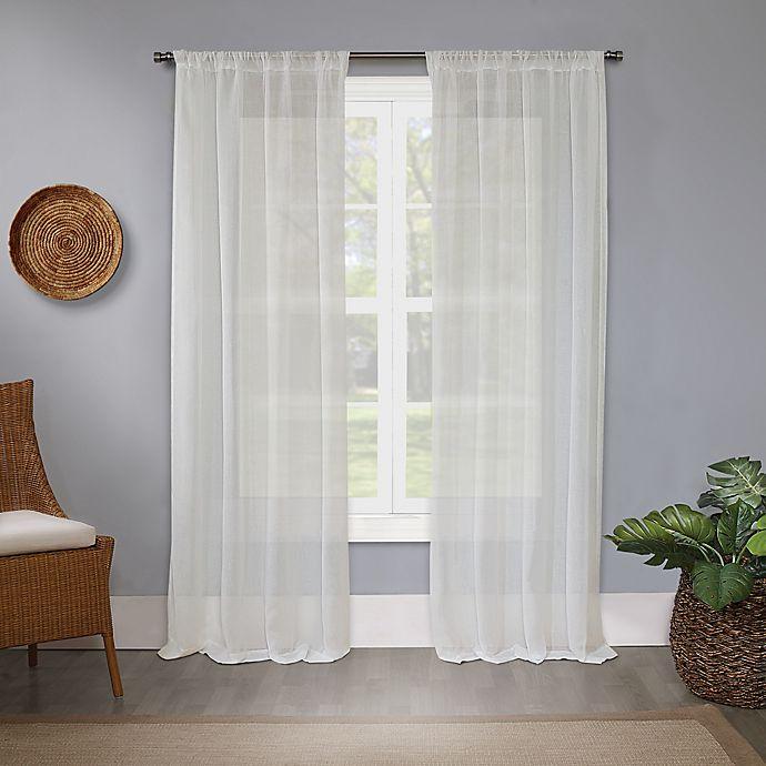 Alternate image 1 for Bristol Sheer Rod Pocket Light Filtering Window Curtain Panel (Single)