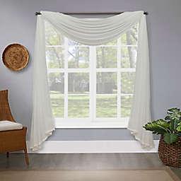 Bristol Semi-Sheer Window Scarf in Ivory (Single)