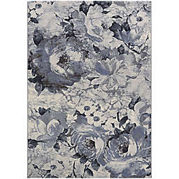 Couristan® Easton Bountiful 7'10 x 11'2 Area Rug in Pewter