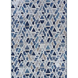 Couristan® Easton City Bricks Area Rug in Graffiti Blue