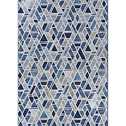 Couristan® Easton City Bricks 6'6 x 9'6 Area Rug in Graffiti Blue