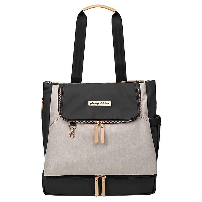 Alternate image 1 for Petunia Pickle Bottom® Pivot Diaper Backpack in Sand/Black