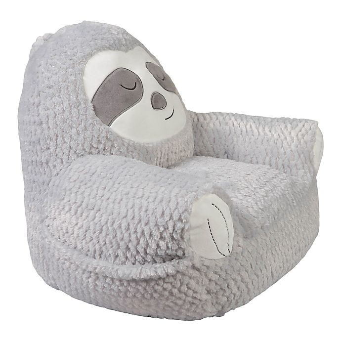 Alternate image 1 for Trend Lab® Sloth Plush Character Chair in Grey