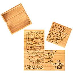 Totally Bamboo Arkansas Puzzle 5-Piece Coaster Set