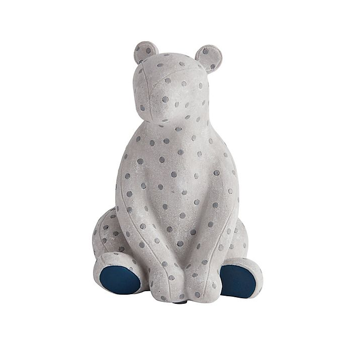 Alternate image 1 for Elements Polka Dot Bear Bookend in Grey
