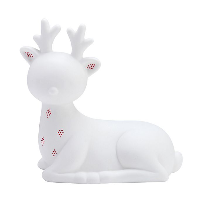 Alternate image 1 for Elements LED Ceramic Deer in White/Red