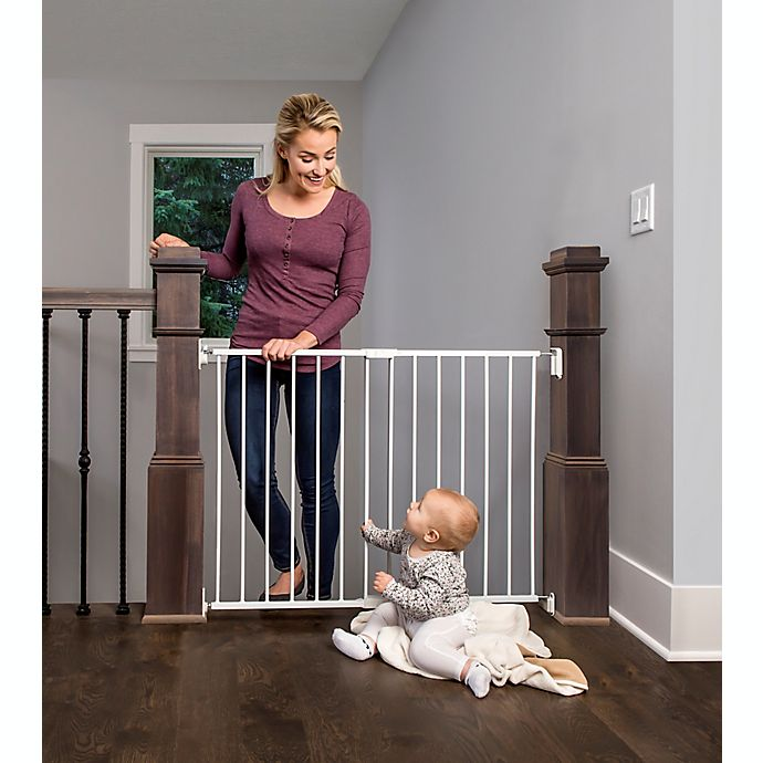 Alternate image 1 for Regalo Top of Stair Baby Gate in White