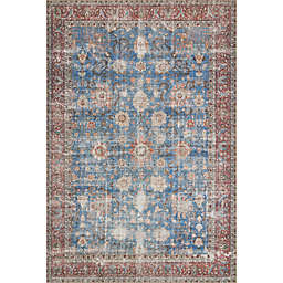 Loloi Loren Printed Rug in Blue/Brick