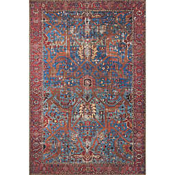 Loloi Rugs Loren Rug in Blue/Red