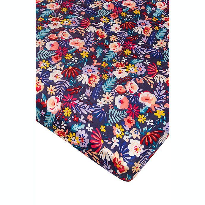Alternate image 1 for Loulou LOLLIPOP Dark Field Flowers Muslin Crib Sheet