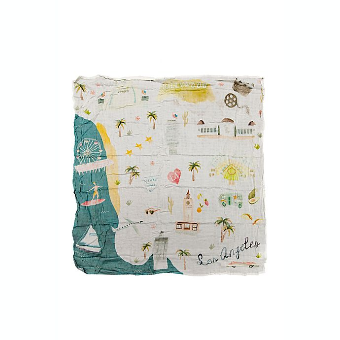 Alternate image 1 for Loulou Lollipop Los Angeles Muslin Swaddle Blanket