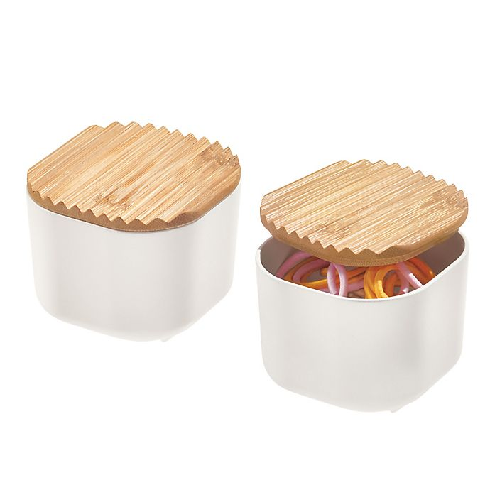 Alternate image 1 for iDesign® Eco Bins with Bamboo Lids Collection