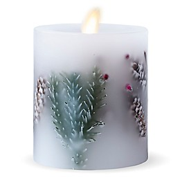 Luminara® Fir Berry Real-Flame Effect Pillar Candle