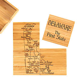 Totally Bamboo Delaware Puzzle 5-Piece Coaster Set