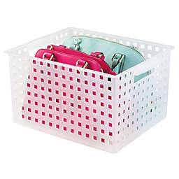 iDesign® Modulon X6 Storage Basket in Transparent White