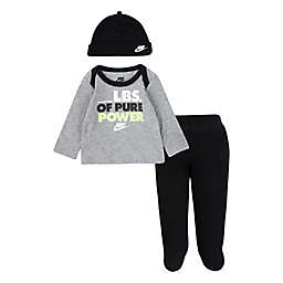 Nike® 3-Piece Shirt, Footed Pant and Hat Set