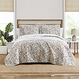 Tommy Bahama® Kenya Quilt Set in Cocoa