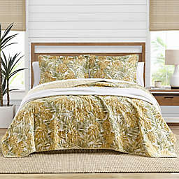 Tommy Bahama® Newland Forest 3-Piece ReversibleFull/Queen Quilt Set in Ochre