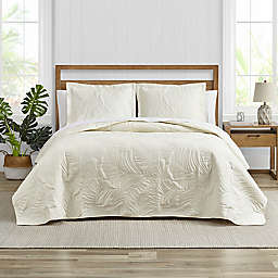 Tommy Bahama® Paradise Fronds 3-Piece Reversible Quilt Set in Ivory
